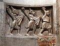 Duomo di trento, interno, frammenti romanici della lapidazione di s. stefano 01.jpg