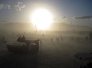 Dust Storm in Black Rock Desert