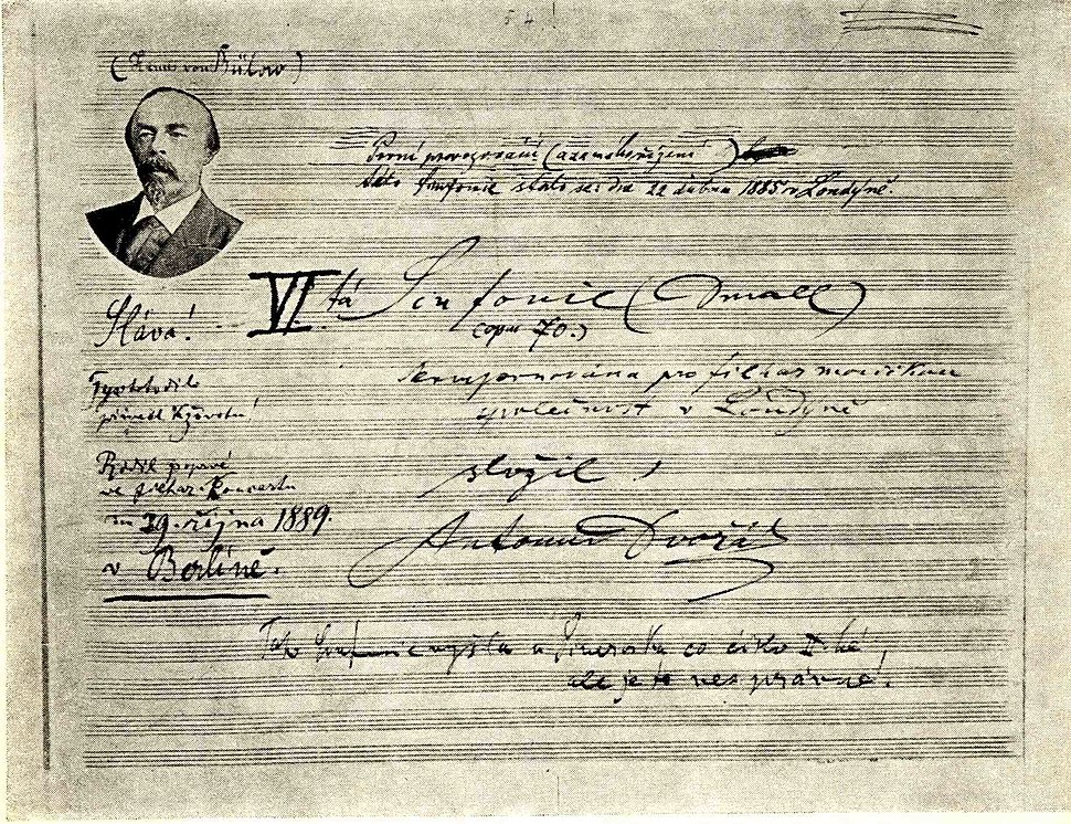 Dvořák VI symphony 254