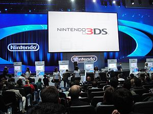 Nintendo 3DS - Image: E3 2010 Nintendo Media Event Legend of Zelda Skyward Sword demo machines rise from the floor