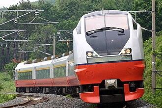Tsugaru (train) - An E751 series EMU on a Tsugaru service in June 2006