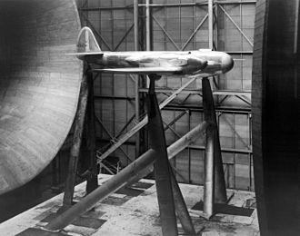 Bell YFM-1 Airacuda - Bell FM-1 mockup at Langley wind tunnel
