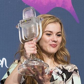 Emmelie de Forest - De Forest at the Eurovision 2013 winner's press conference