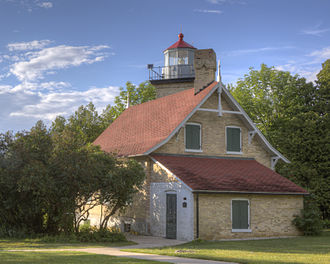 Door County, Wisconsin - Eagle Bluff Lighthouse.