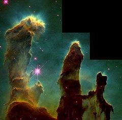 I Pilastri della Creazione nella Nebulosa Aquila