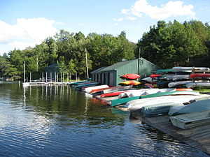 Eagles Mere, Pennsylvania - The lake and marina at Eagles Mere