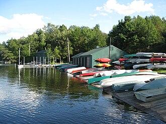 Eagles Mere, Pennsylvania - The lake and marina at Eagles Mere