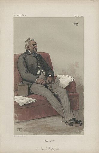 "Hugh Fortescue, 3rd Earl Fortescue - ""Sanitas"" Fortescue as caricatured in Vanity Fair, September 1881"