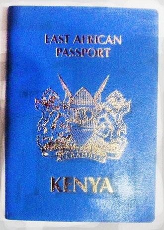 Kenyan passport - Image: East african passport