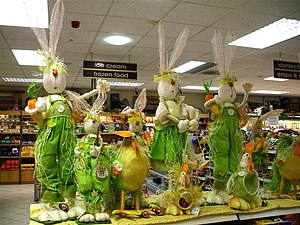 English: Easter bunnies, Omagh An early appear...