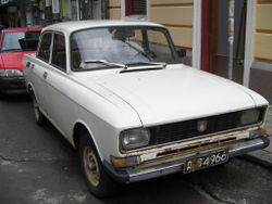 Eastern European car, unknown model, seen in Sofia, Bulgaria September 2005.jpg