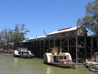 Echuca Town in Victoria, Australia