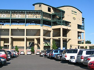 Eck Stadium - Image: Eck Stadium outside