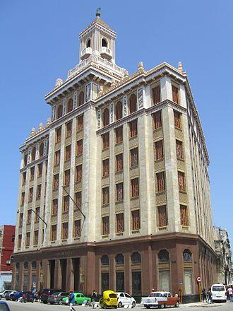Bacardi Building (Havana) - Bacardí building in Havana, 2016