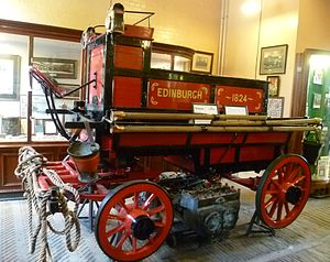 Great Fire of Edinburgh - One of Edinburgh's earliest fire engines built in 1824