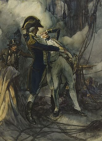 Edward Berry - Captain Edward Berry catching Nelson as he falls wounded at the Battle of the Nile.