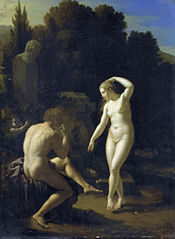 A Nymph Dancing to a Shepherd's Flute-Playing