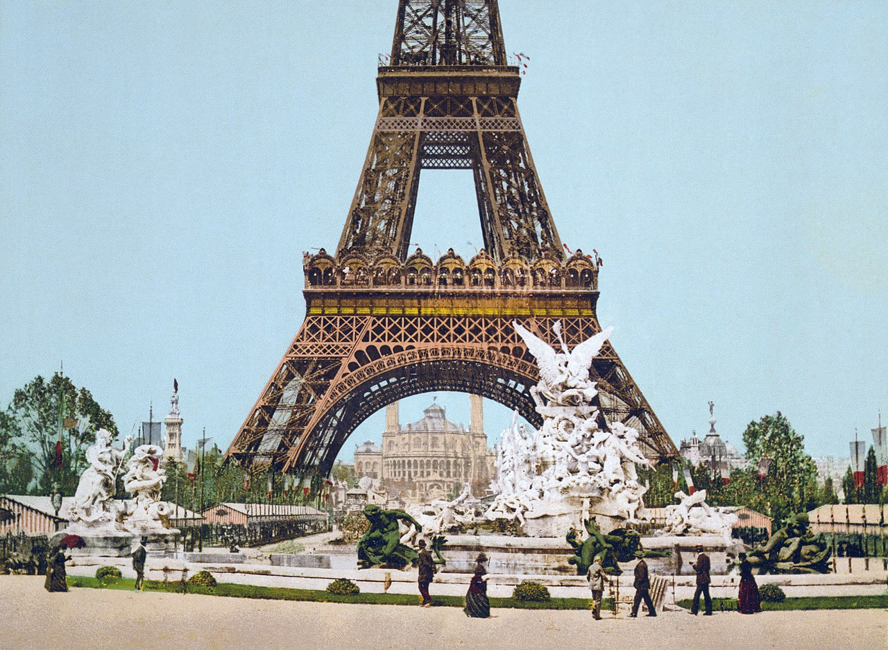 file eiffel tower and fountain exposition universal 1889. Black Bedroom Furniture Sets. Home Design Ideas