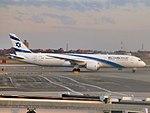 El Al Israel Airlines Boeing 787-9 Dreamliner 4X-EDB taxiing at JFK Airport.jpg