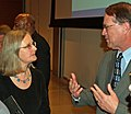 Elaine McIlroy talking with Jim Rettig at the 2008 I Love My Librarian Awards.jpg
