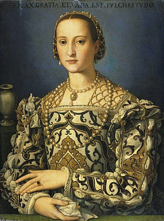 Eleanor of Toledo - Portrait by Agnolo Bronzino