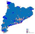 Elecciones catalanas de 2012 - Segundo partido más votado por municipios.png