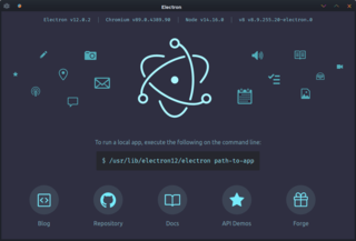 Electron (software framework) development framework built on chromium
