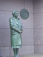 Statue of Eleanor Roosevelt at Washington D.C. memorial
