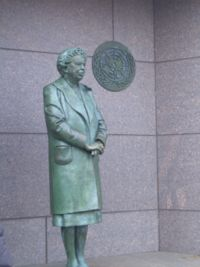 Statue in FDR Washington D.C. memorial.