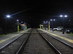 Eliot station facing inbound at night, November 2011.jpg