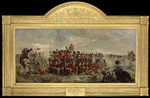 28th Regiment at Quatre Bras (painting) - Image: Elizabeth Thompson The 28th Regiment at Quatre Bras Google Art Project