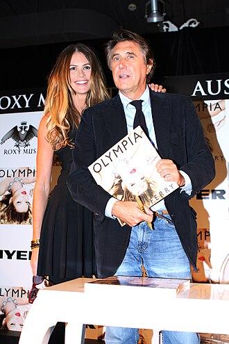 Washington School, Sunderland - Bryan Ferry with Elle Macpherson, launching his Olympia album