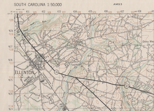 Ellenton, South Carolina - Ellenton SC 1949 Topographic Map