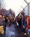 Embracing the base, Greenham Common December 1982 - geograph.org.uk - 759090.jpg