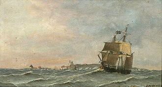 Emil Normann - Image: Emil Wilhelm Normann En engelsk bark langs kysten af Christians ø