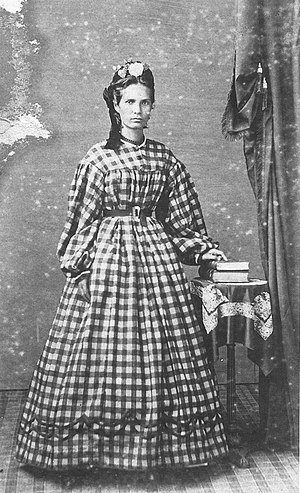 Charles Leander Weed - Image: Emma Metcalf, photograph by Charles L. Weed, 1865