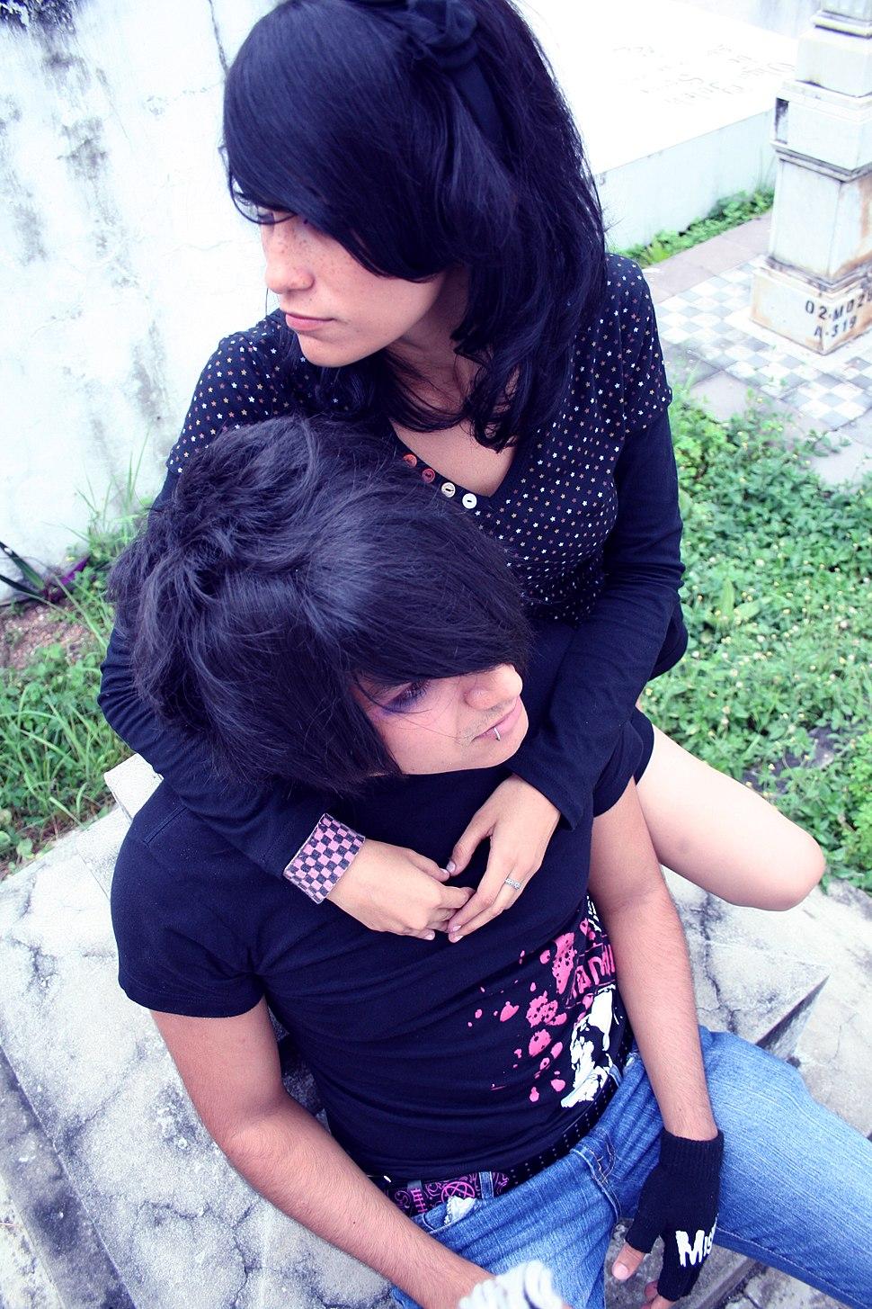 Emo boy 02 with Girl