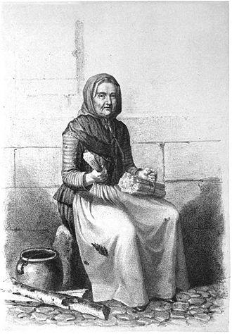 1765 in Sweden - En svafvelsticksförsäljerska - Pehr Hilleström