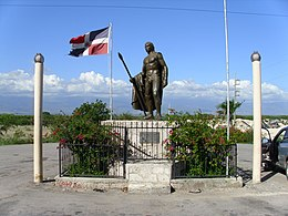 Statue of the Taino Enriquillo.
