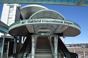 Oakland International Airport station - Image: Entrance to Oakland Airport BART Station (BART to OAK tram)
