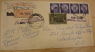 Murray Chotiner - Envelope addressed to Nixon by Chotiner,1955