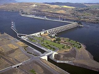 The Dalles Dam Dam in Klickitat County, Washington / Wasco County, Oregon, USA