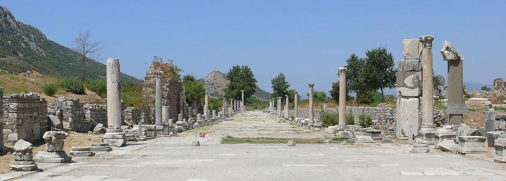 Ephesian street scene - letter to the church in Ephesus