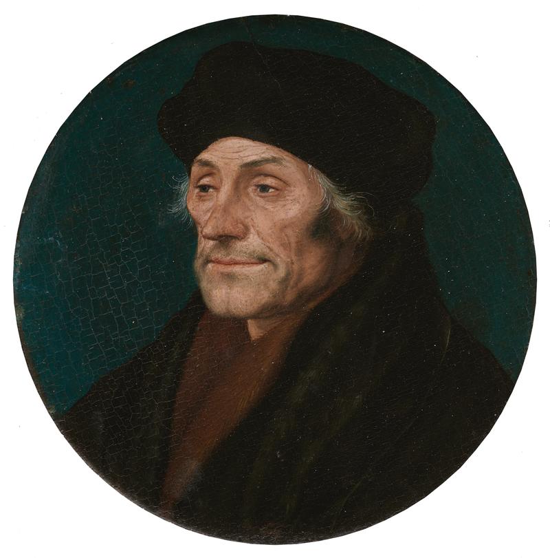 Erasmus, Roundel, 1532, by Hans Holbein (Kunstmuseum Basel).png