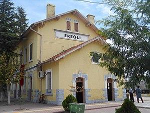 Ereğli railway station - Image: Ereğli Gar View from West