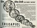 Ergoapiol Martin H. Smith Co. ad Medical Woman's Journal 1944-05.jpg