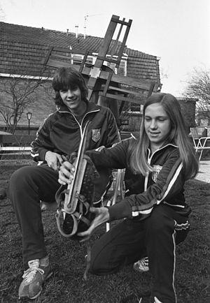 Beth Heiden - Beth and Eric Heiden in 1977 in Alkmaar, the Netherlands