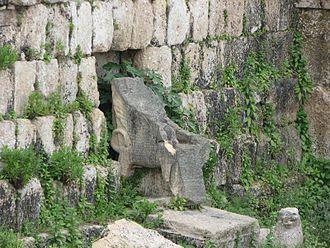 Eshmun - Ruins of the 7th century BC Phoenician temple of Eshmun in Sidon