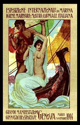 International exhibition of marine and maritime hygiene - Image: Esposizione Coloniale 1914