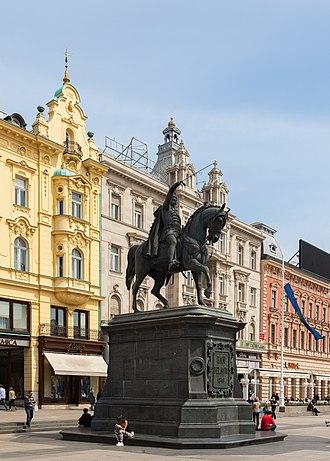 Ban Jelačić Square - Image: Estatua de Ban Jelacic, Zagreb, Croacia, 2014 04 13, DD 01